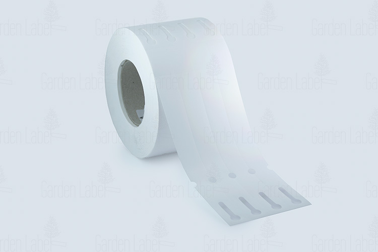 Allfolin loop label – 250x25x15-25, with tear-off tip, white