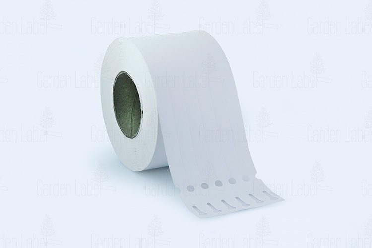Allfolin loop label – 200x17x10-15, with tear-off tip, white