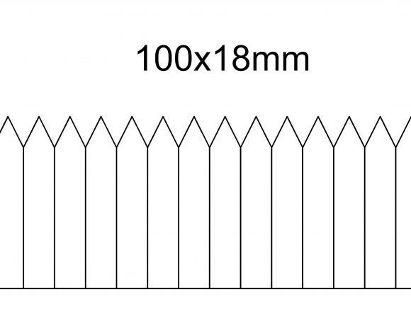 Etykieta wtykana 100×18, termotransfer, biała