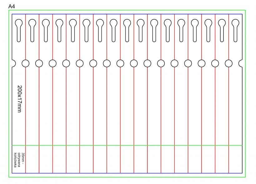 Etykieta pętelkowa Laser – 200x17x10-15, zrywka, biała