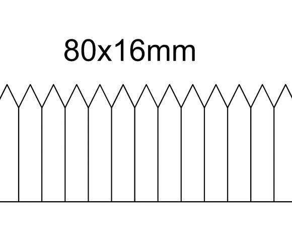Etykieta wtykana 80×16, termotransfer, biała