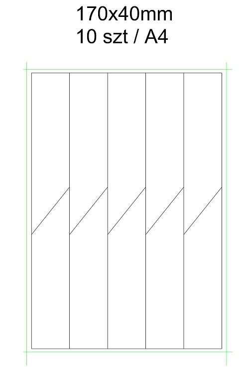 etykieta wtykana laser arkusz A4 170×40