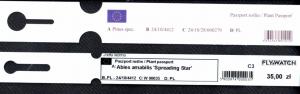 Drukowanie paszportów roślin. Przykładowa etykieta petelkowa. Druk Garden Label.