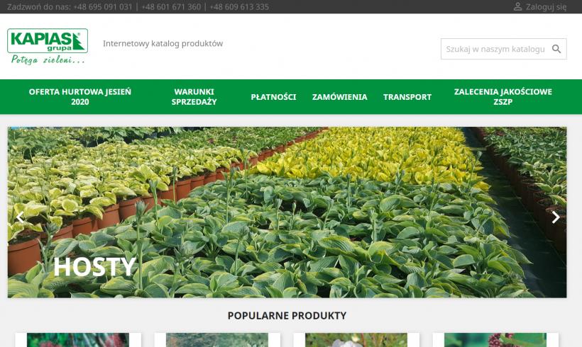Katalog roślin online – zrealizowaliśmy internetowy projekt dla Grupy Kapias