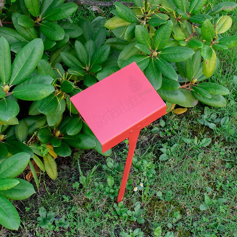 Ogrodowa-tabliczka-do-roślin-czerwona-Garden-Label
