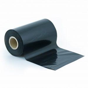 Czarna barwiąca kalka woskowo-żywiczna gwarantuje wysoką jakość nadruku naetykietach. Fot.Garden-Label.